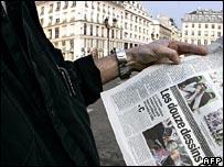 Newspapers publish cartoon featuring Muhammad