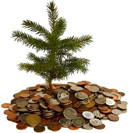 money-xmas-tree