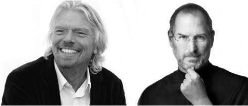 Steve Jobs and Richard Branson