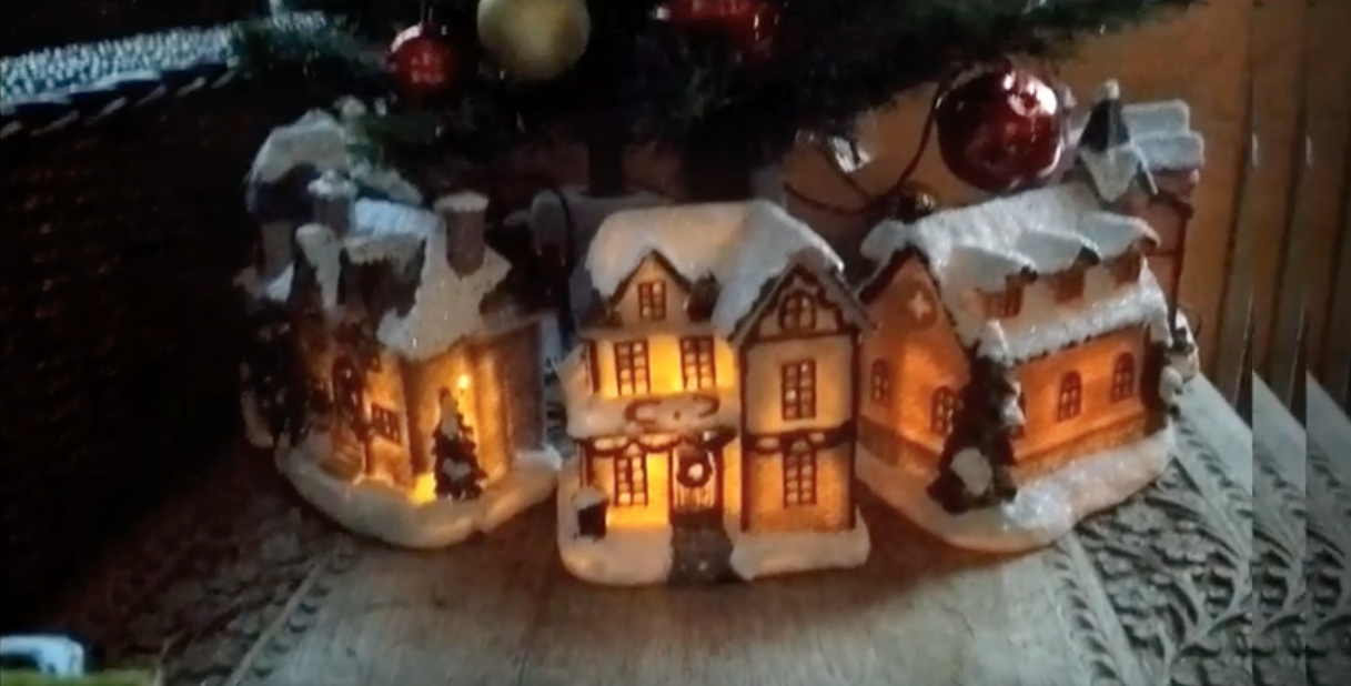 Haseenah's miniature christmas houses