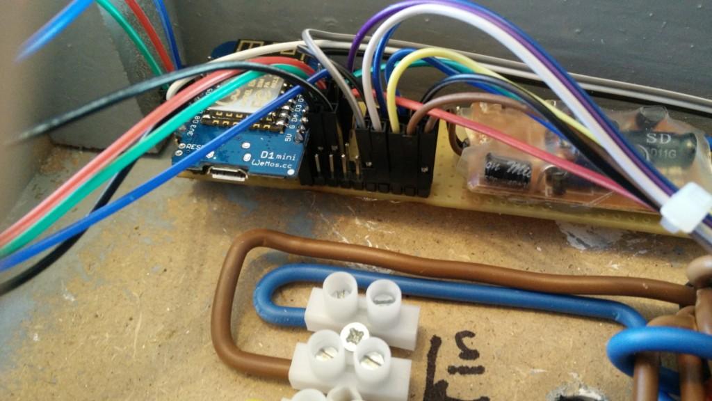 Veranda control center - D1 mini with ESP8266