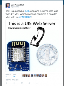 Minimizing UI5 app's footprint to run from an ESP8266