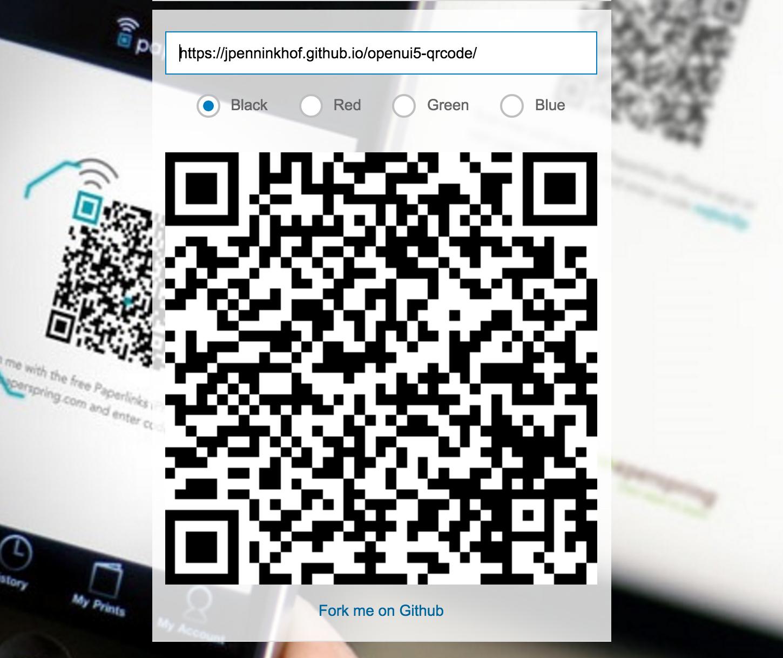 UI5 QR Code Screenshot